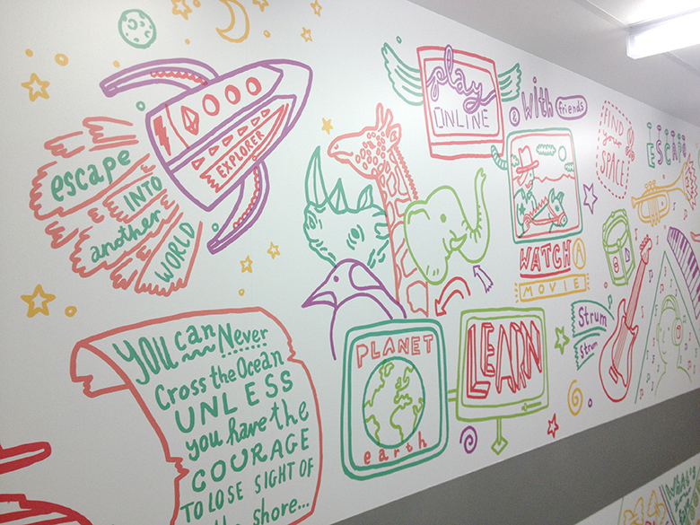 Illustration by Dave Bain in new Teenage Cancer Trust unit
